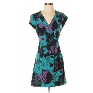 BANANA REPUBLIC Purple Blue Floral Wrap Dress